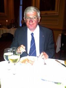 Mike Enjoys Dinner